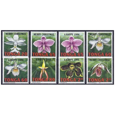 Timbres orchidees Tonga N° 1032/1039 neufs