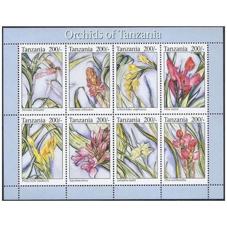 Timbres orchidees Tanzanie N° 1484/91 neufs