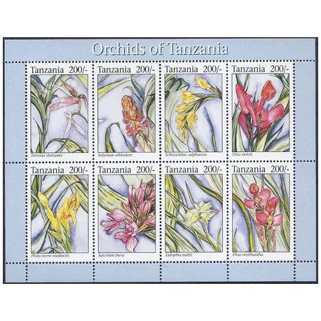 Collection Timbres Flore Timbres orchidees Tanzanie N° 1484/91 neufs à partir de 5,00 €