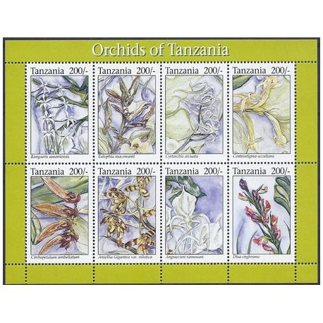 Timbres orchidees Tanzanie N° 1592/1599 neufs