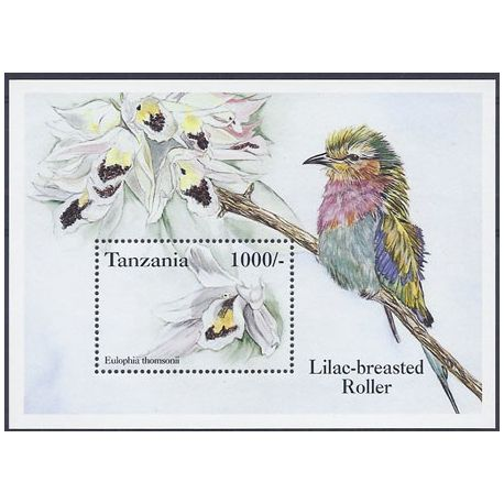 Timbres orchidees Tanzanie bloc N° 227 neuf