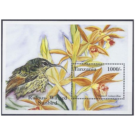 Timbres orchidees Tanzanie bloc N° 240 neuf