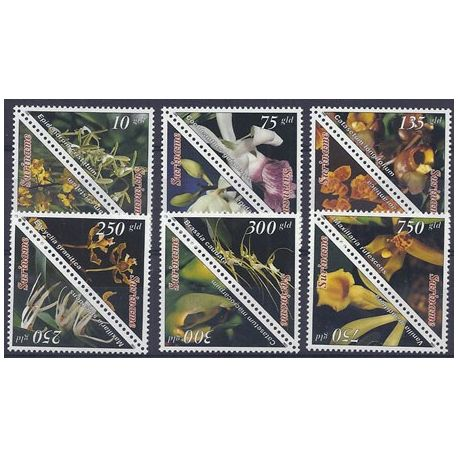 Timbres orchidees Surinam N° 1375/1386 neufs