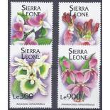 Timbres orchidees Sierra Leone N° 1839/1842 neufs
