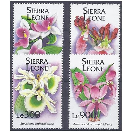 Collection Timbres Flore Timbres orchidees Sierra Leone N° 1839/1842 neufs à partir de 5,00 €
