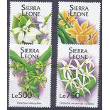 Neue Briefmarken Orchideen Sierra Leone Nr. 1851/54