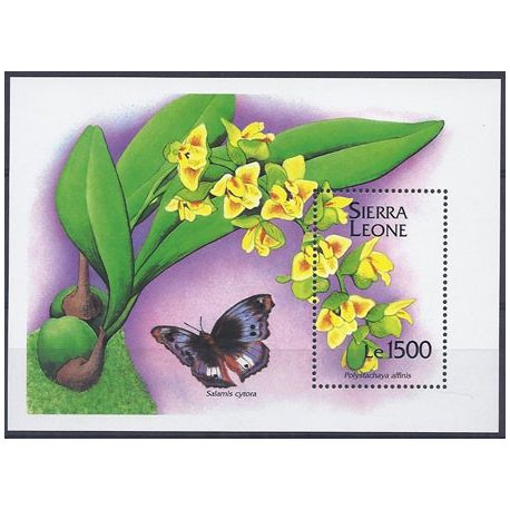 Timbres orchidees Sierra Leone bloc N° 250 neuf