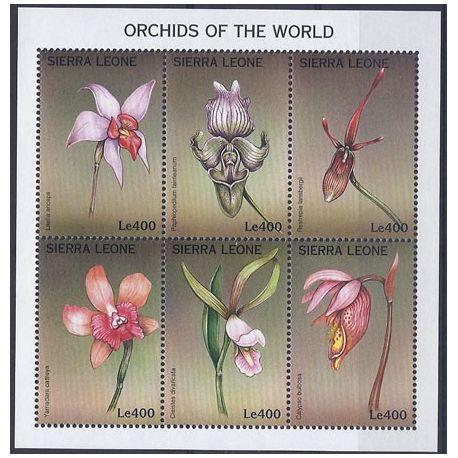 Collection Timbres Flore Timbres orchidees Sierra Leone N° 2481/2486 neufs à partir de 6,00 €