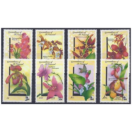 Timbres orchidees Grenadines N° 712/19 neufs