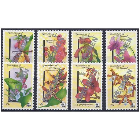 Timbres orchidees Grenadines N° 712/19 SPECIMEN