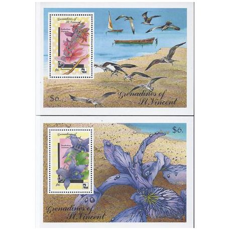 Timbres orchidees Grenadines bloc N° 70/1 SPECIMEN