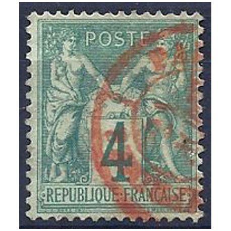Timbre France N° 63 oblitération rouge - TB