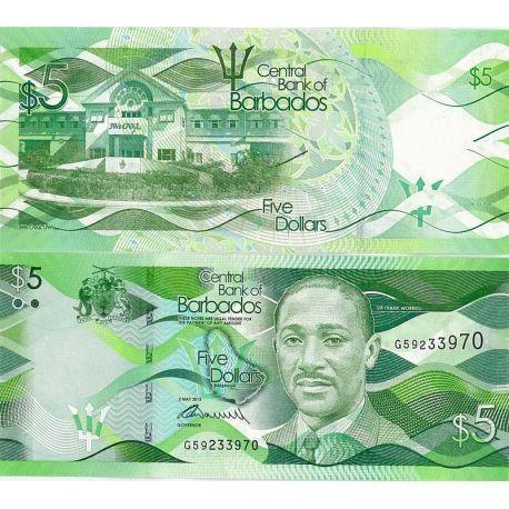 Billets de collection Barbade - Pk N° 74 - Billet de 5 Dollars Billets de la Barbade 6,00 €
