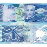Banknoten Sammlung Barbados Pick Nummer 73 - 2 Dollar 2007