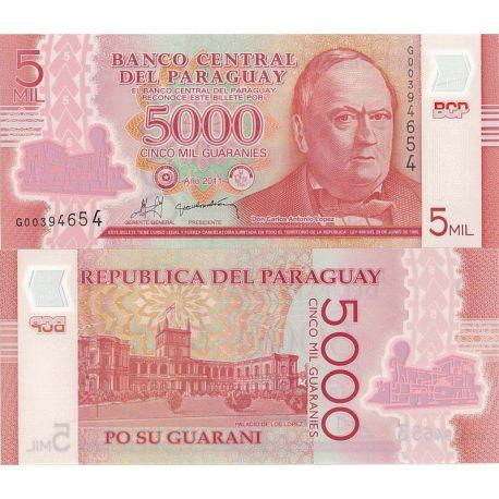 Paraguay - Pk N° 999 - Billet de 5000 Guaranies