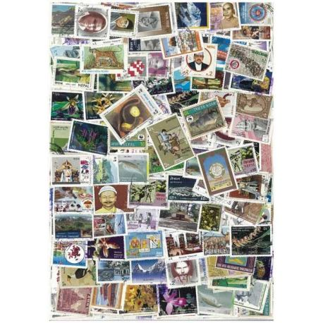 Nepal - 50 verschiedene Briefmarken