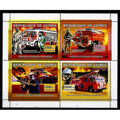 Timbres Pompiers Guinée N° 2851/54 neuf sans charnière