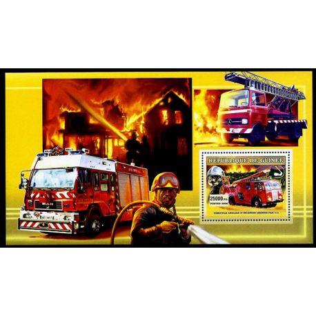 Timbres Pompiers Guinée bloc N° 458 neuf sans charnière