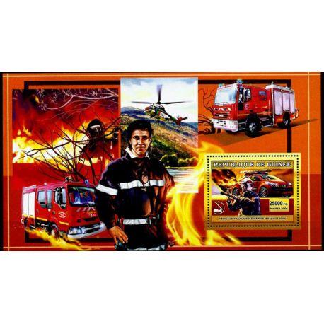 Timbres Pompiers Guinée bloc N° 457 neuf sans charnière