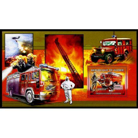 Timbres Pompiers Guinée bloc N° 456 neuf sans charnière