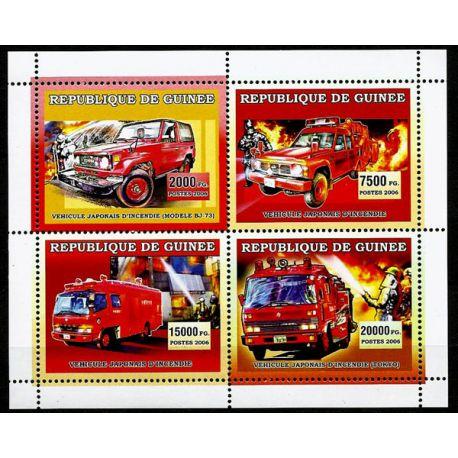 Timbres Pompiers Guinée N° 2787/90 neuf sans charnière