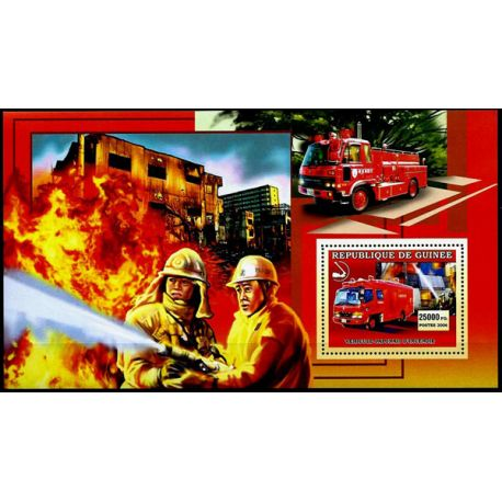 Timbres Pompiers Guinée bloc N° 393 neuf sans charnière