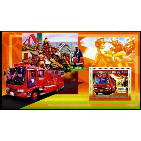 Timbres Pompiers Guinée bloc N° 394 neuf sans charnière