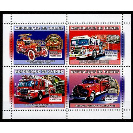 Timbres Pompiers Guinée N° 2827/30 neuf sans charnière