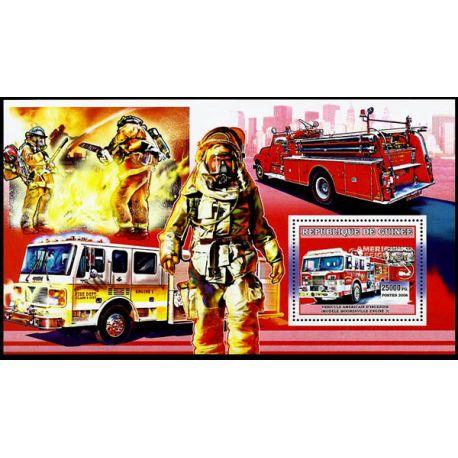 Timbres Pompiers Guinée bloc N° 432 neuf sans charnière