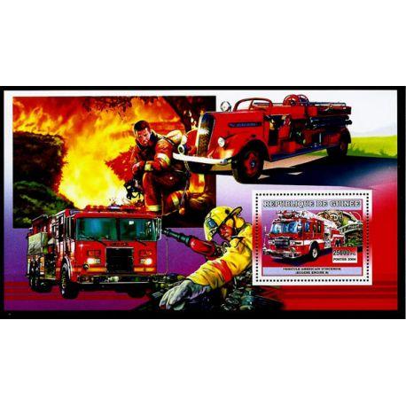 Timbres Pompiers Guinée bloc N° 433 neuf sans charnière