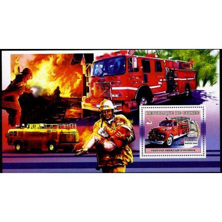 Timbres Pompiers Guinée bloc N° 434 neuf sans charnière