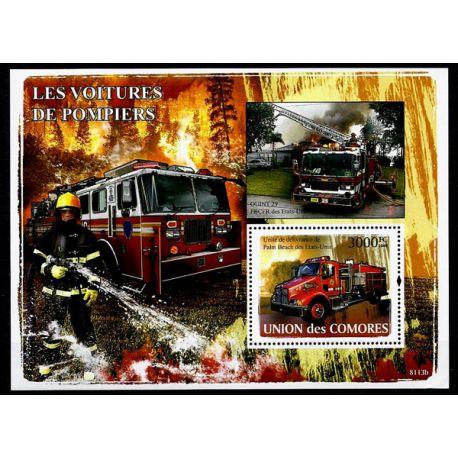 Timbres Pompiers Comores bloc N° 131 neuf sans charnière