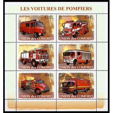 Timbres Pompiers Comores N° 1297/302 neuf sans charnière