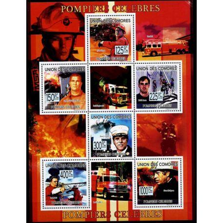Timbres Pompiers Comores N° 1613/18 neuf sans charnière