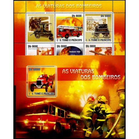 Timbres Pompiers St Thomas N° 2308/12 + BF N° 395