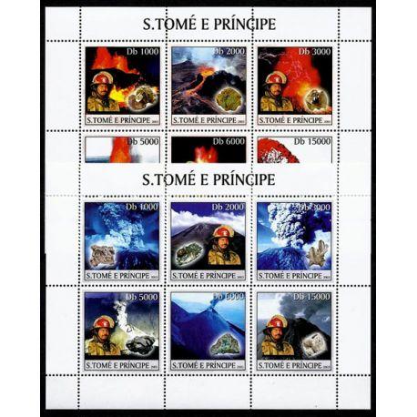 Timbres Volcans et Minéraux St Thomas N° 1386/97