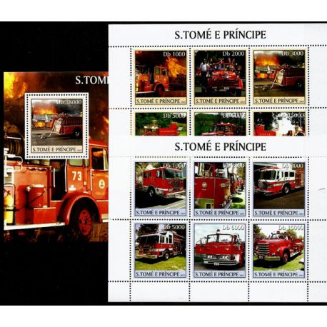 Timbres Pompiers St Thomas N° 1572/83 + BF N° 244