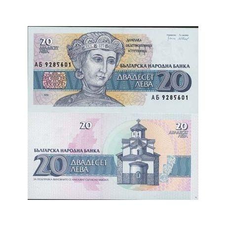 Bulgarie - Pk N° 100 - Billet de 20 Leva