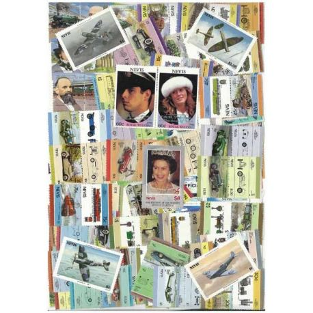 Nevis - 25 timbres différents