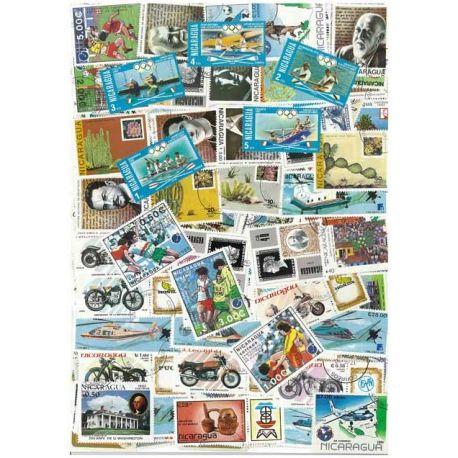 Nicaragua - 100 verschiedene Briefmarken