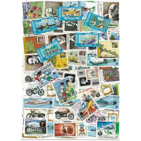 Nicaragua - 100 timbres différents