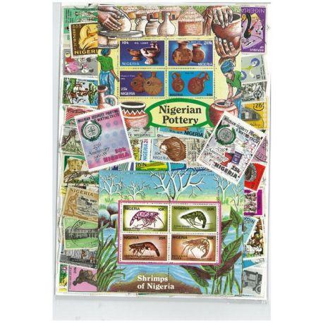 Nigeria - 25 verschiedene Briefmarken
