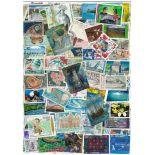 Neukaledonien Sammlung Von Briefmarken gestempelt