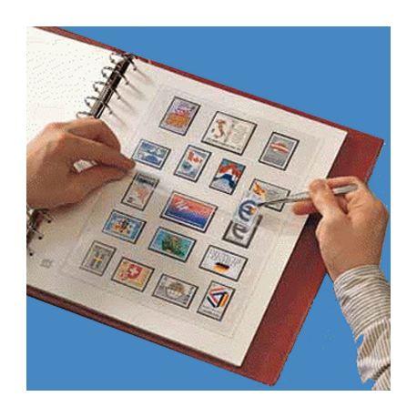 34 Feuilles Safe pour timbres France 1849-1937