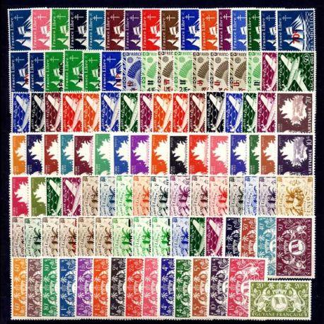 Collection de timbres colonies neufs sans charnière