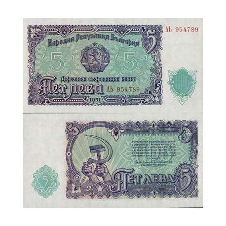 Bulgarie - Pk N° 82 - Billet de 5 Leva
