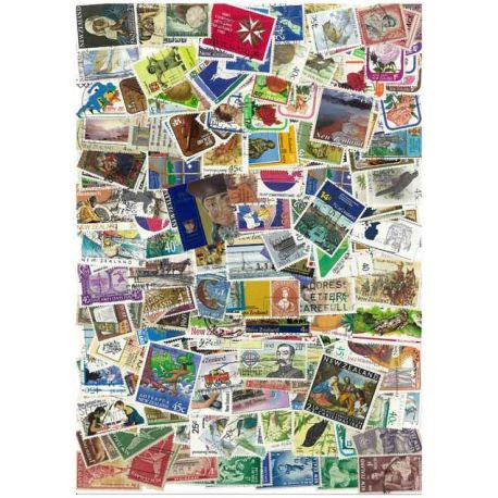 Nlle Zelande - 100 timbres différents