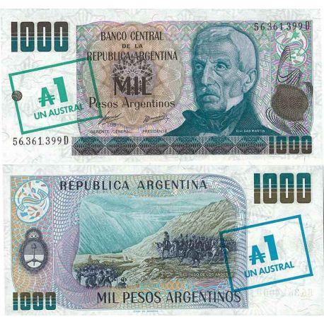 Billets de collection Billet de banque collection Argentine - PK N° 320 - 1 Australes Billets d'Argentine 4,00 €