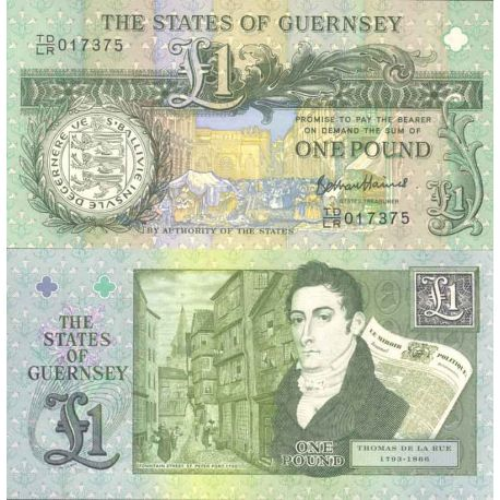 Billet de banque collection Guernesey - PK N° 999 - 1 Pound