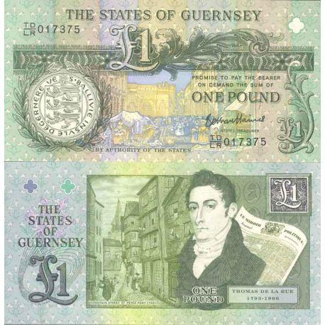 Billet de banque collection Guernesey - PK N° 999 - 1 Pound